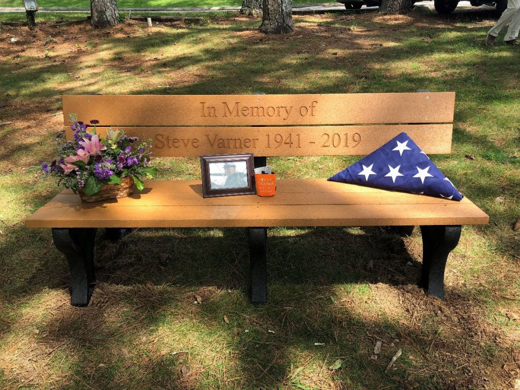 Custom Memorial Bench by American Recycled Plastic