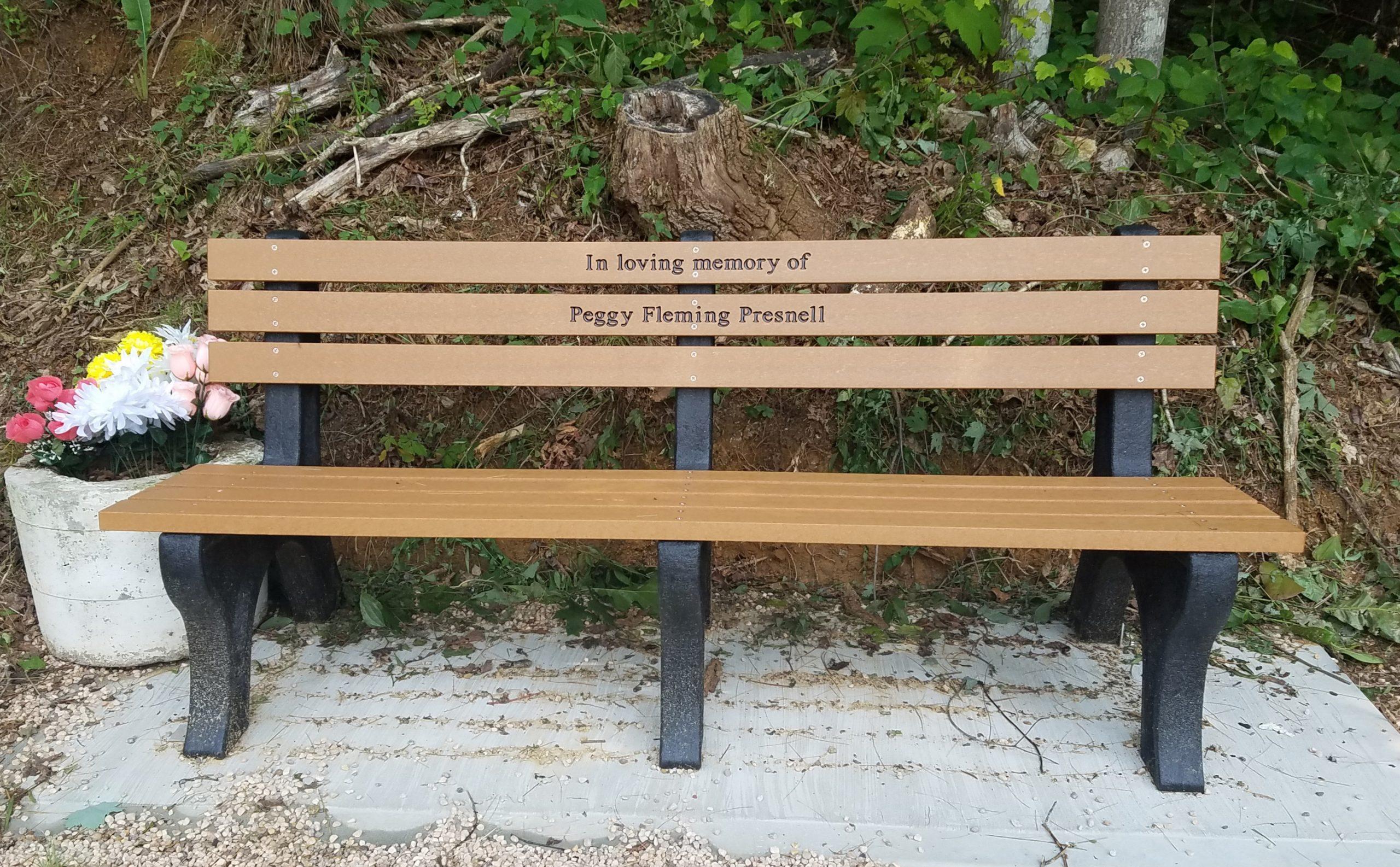 EngravedMemorial Bench
